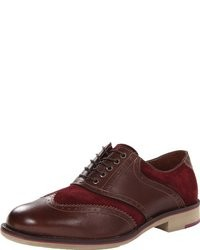 Burgundy Suede Oxford Shoes