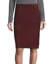 Eileen Fisher Suede Pencil Skirt