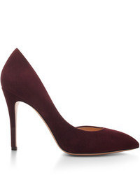 Burgundy Suede Pumps