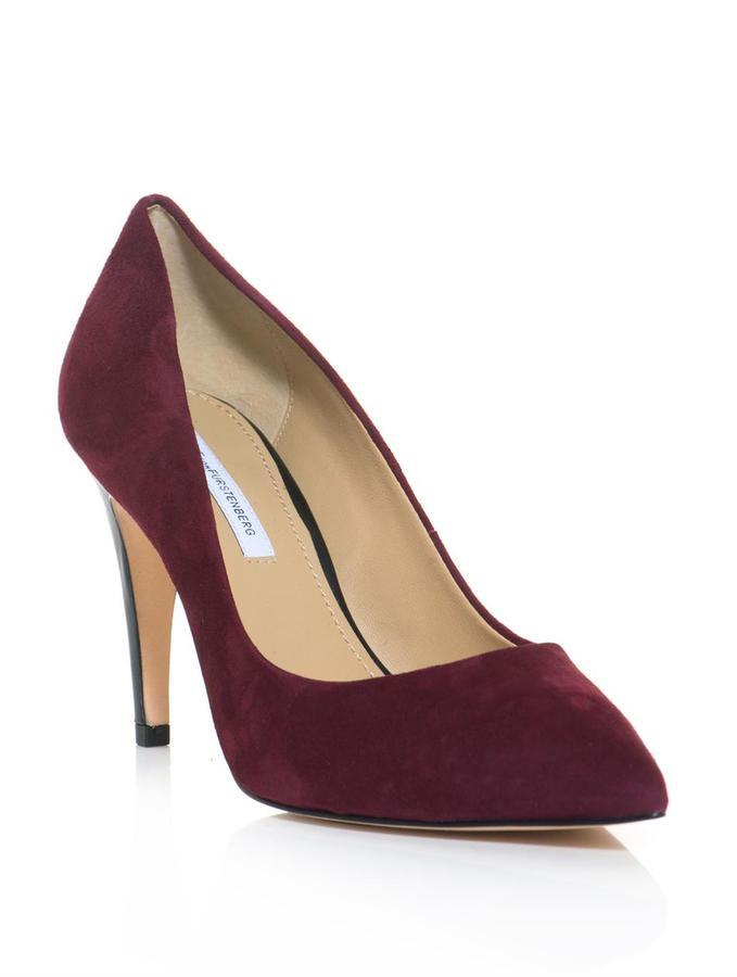 discount fake Diane von Furstenberg Suede Pointed-Toe Pumps best sale online cheap lowest price 56XxI