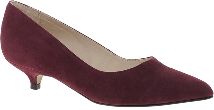 9e1b0346b ... Burgundy Suede Pumps Ganni Berry Kitten Heel Suede Court Shoes Red  Berry Suede