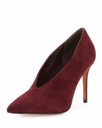 Vince Portia Suede Pointed Toe Pump Oxblood