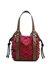Rag & Bone Camden Netted Leather Shopper With Suede Drawstring Bag