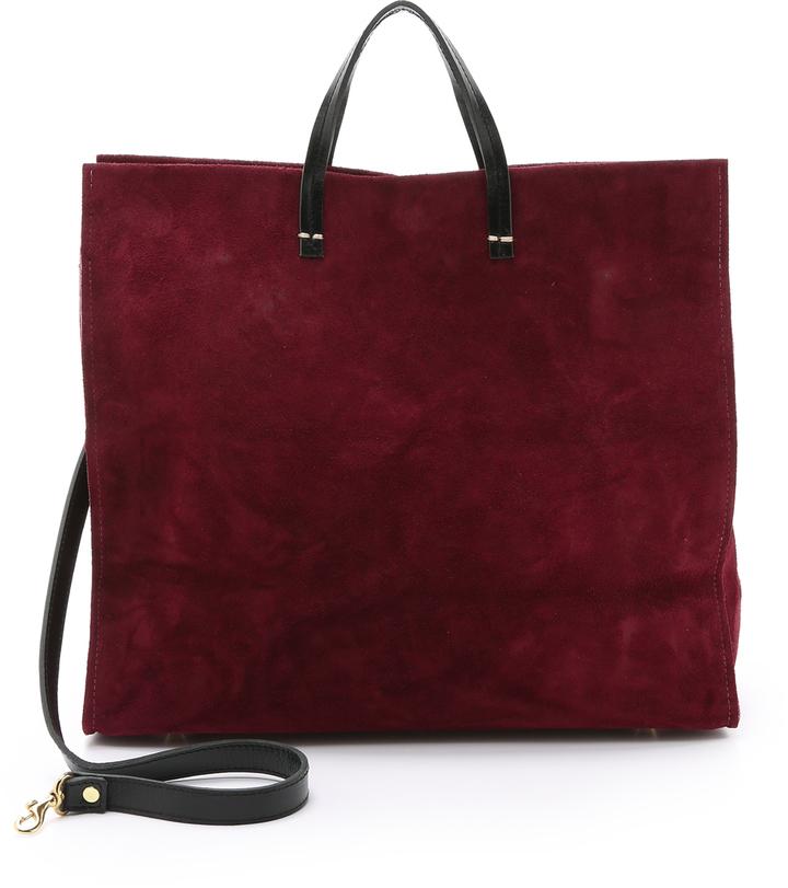 Bags Clare Vivier V Suede Simple Tote
