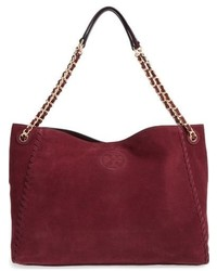 Marion suede tote brown medium 834521