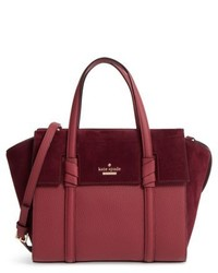 New york daniels drive small abigail suede leather tote red medium 5208733