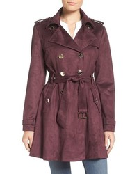 Faux suede belted trench medium 760312