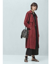 Mango Outlet Suede Trench