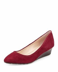 Cole Haan Tali Luxe Wedge Pump Cabernet