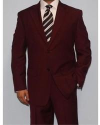 Ferrecci Burgundy Two Button Suit