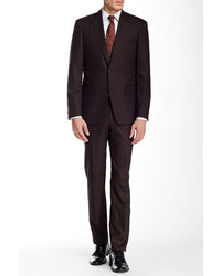 Star Usa By John Varvatos Burgundytwo Button Notch Lapel Wool Suit