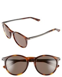 Gucci 51mm Sunglasses Black Ruthenium Brown Grey