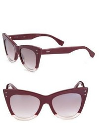 Fendi 52mm Two Tone Cat Eye Sunglasses
