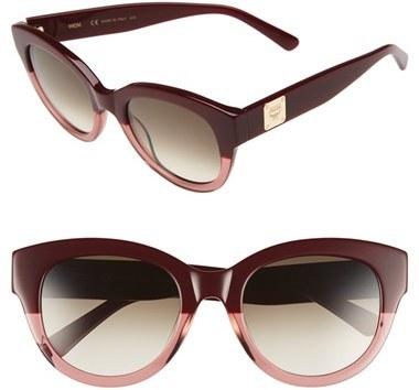 24f1f222a1 ... MCM 53mm Cat Eye Sunglasses Bordeaux Antique Rose ...
