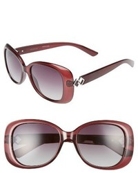 Polaroid 55mm Polarized Butterfly Sunglasses Black