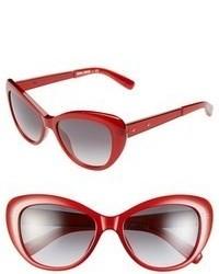 Bobbi Brown 54mm Cat Eye Sunglasses Camel Tortoise Tan