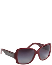 Burberry Burgundy Acrylic Oversized Square Sunglasses
