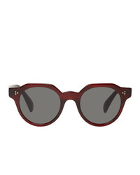 Oliver Peoples Burgundy Irven Sunglasses
