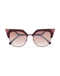 Fendi Cat Eye Acetate And Metal Sunglasses