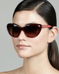 Marc by Marc Jacobs Cat Eye Sunglasses Burgundy
