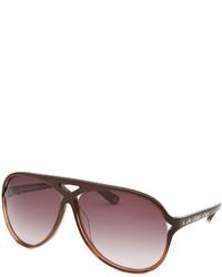 Bebe Classy Aviator Burgundy Sunglasses