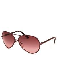 Fendi Aviator Shinny Burgundy Sunglasses
