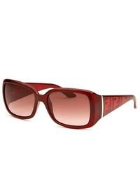 Fendi Rectangle Burgundy Sunglasses