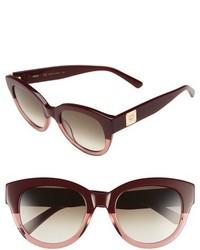 MCM 53mm Cat Eye Sunglasses Bordeaux Antique Rose