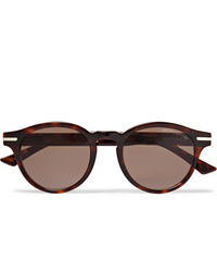 CUTLER AND GROSS Round Frame Tortoiseshell Acetate Sunglasses