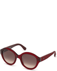 Tod's Round Plastic Sunglasses Bordeauxburgundy