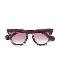 Moncler Square Frame Acetate Sunglasses