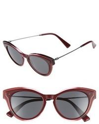 Valentino 51mm cat eye sunglasses clear red medium 4401417