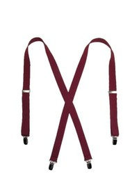 CTM Basic Suspenders Burgundy One Size