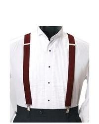 Selini Burgundy 1 14 Wide 42 Long Metal Clip Boxed Suspenders Csb4601