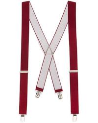 Topman Burgundy Plain Vintage Suspenders