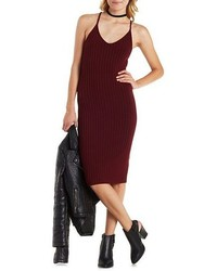 Charlotte Russe Strappy Ribbed Sweater Dress