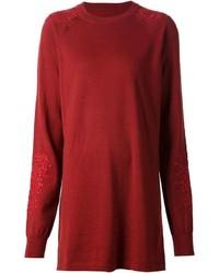 Maison Margiela Embroidered Sweater Dress