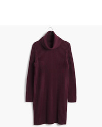 Relaxed Turtleneck Sweater Dress