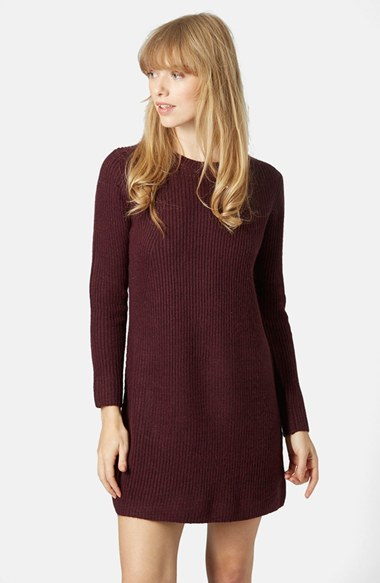 Topshop Rib Knit Sweater Dress | Where to buy & how to wear
