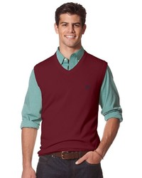 Chaps Big Tall Classic Fit Solid Sweater Vest
