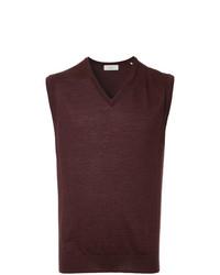 Cerruti 1881 Sleeveless Fitted Sweater