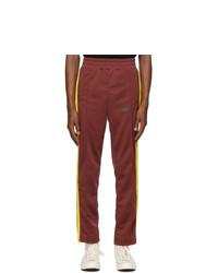 Palm Angels Burgundy College Slim Track Pants