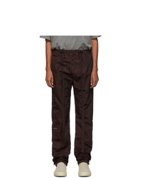 Fear Of God Burgundy Nylon Lounge Pants