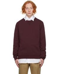 Maison Margiela Burgundy Classic Sweatshirt