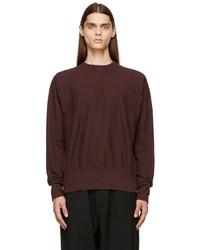 Maison Margiela Burgundy Rib Knit Sweatshirt