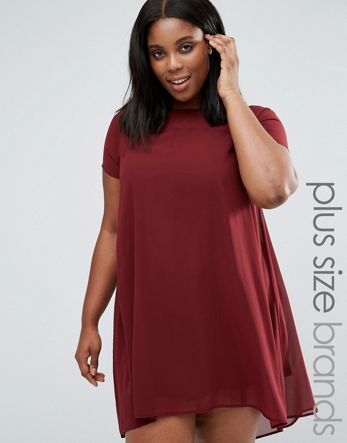 Ax Paris Ax Paris Plus Swing Dress With Sheer Insert Where To Buy