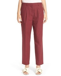 Burgundy tapered pants original 10578563