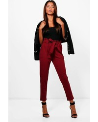 Boohoo Hailey Paperbag Waist Belted Trouser