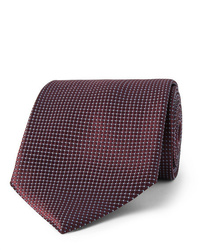 Ermenegildo Zegna 8cm Textured Silk Tie