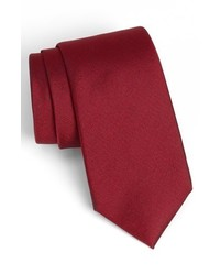 Calibrate woven silk tie red regular medium 315917
